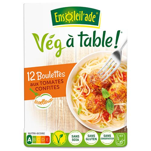 Boîtes de douze boulettes aux tomates confites d'Ensoleil'ade.