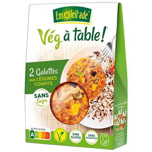 Boîte de deux galettes aux légumes confits d'Ensoleil'ade.