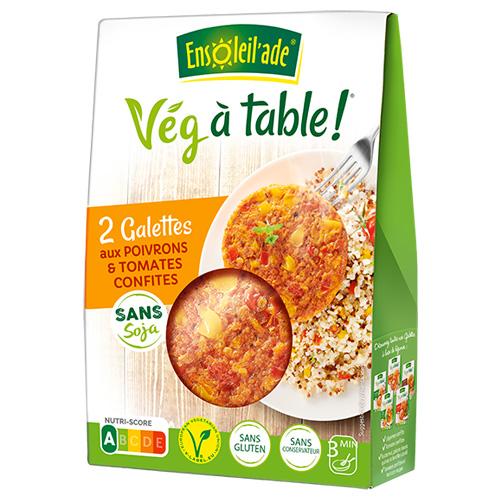 Boîte de deux galettes aux poivrons et tomates confites d'Ensoleil'ade.