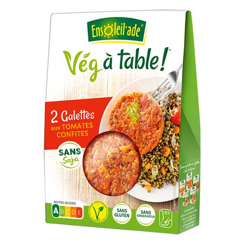 Boîte de deux galettes aux tomates confites d'Ensoleil'ade.