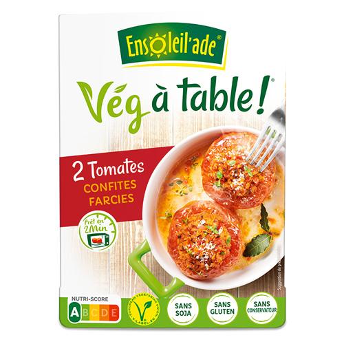Boîte de deux tomates confites farcies d'Ensoleil'ade.