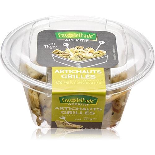 Boîte d'artichauts grillés d'Ensoleil'ade.