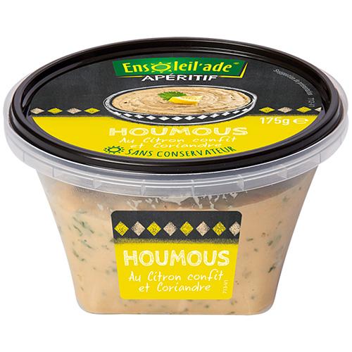 Boîte de houmous Ensoleil'ade au citron confit.