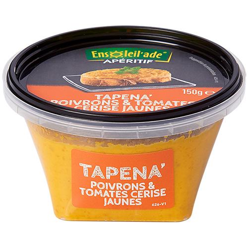 Boîte de Tapena® aux poivrons et tomates cerise jaunes.