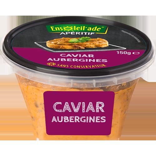Boîte de caviar Ensoleil'ade aux aubergines grillées.