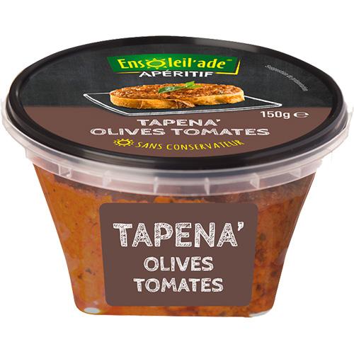 Boîte de Tapena® aux olives et tomates confites.